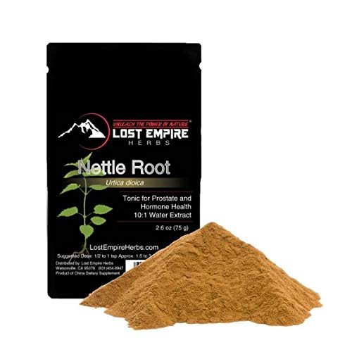 Stinging Nettle Root Extract (75g) - 10:1 Pure, Full-Spectrum Hot Water Extract (10x More Potent) - Wild-Crafted Roots from The Anhui and Sichuan Provinces of China - 3rd Party Tested for Purity
