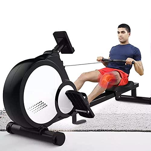 KHXJYC Rameur MagnéTique, éQuipement De Fitness D'IntéRieur Pliable à RéGlage De RéSistance à 16 Niveaux, Volant D'Inertie De 7 Kg, Adapté à L'EntraîNement des Muscles des Jambes Et des Bras