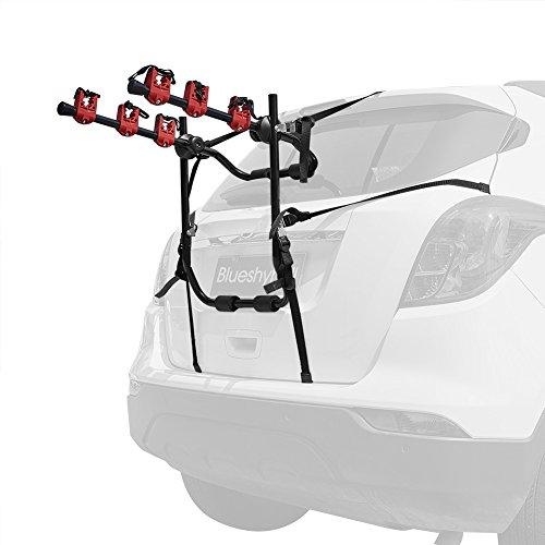 Blueshyhall Auto Fahrradträger Heckklappe Fahrradträger ohne anhaengerkupplung Fahrradträger mit Gurten (Stil 1)