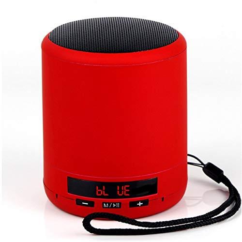 Mini draagbare Bluetooth luidsprekerzuil draadloze subwoofer stereo ondersteuning USB TF-kaart spelen met microfoon voor telefoon, rood
