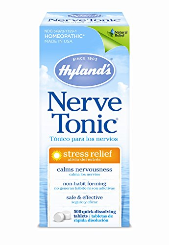 Hyland's Nerve Tonic Stress Relief Tablets, Natural Relief of Restlessness, Nervousness and...