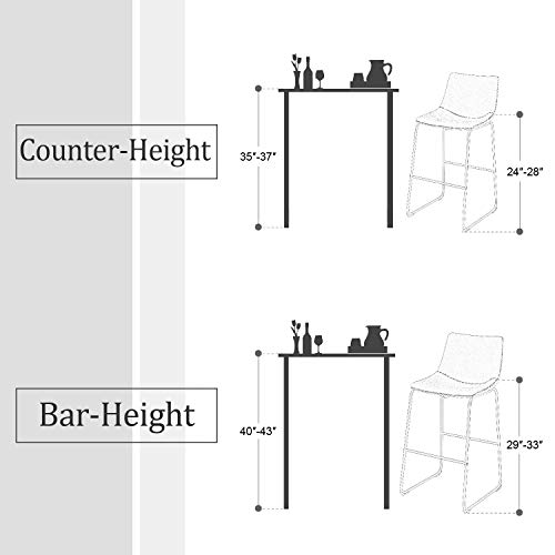 Sophia William Bar Stool 30 Set Of 2 Grey Kitchen Bar Chairs Metal Bar Height With Back Footrest Vintage Leathaire For Pub Dining Room Supports 300lbs Buy Online In Fiji At
