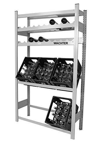 Getränkeregal fuer Kisten und Weinflaschen mit Fachboden
