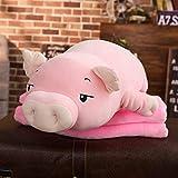 Ankepwj Poupée en Peluche de Cochon Squishy géant couché en Peluche Cochon Jouet Blanc Rose Animaux Jouets en Peluche Doux en Peluche Main Plus Chaud Couverture Enfants Cadeau