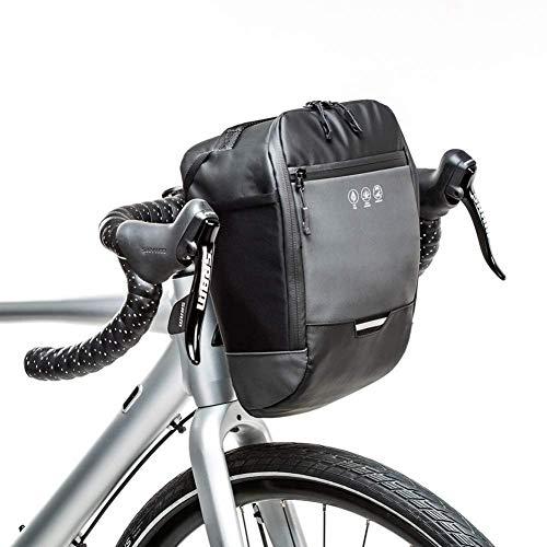 N/Y Reflektierende Fahrradlenker-Tasche, wasserdichter Frontrahmen Fahrradkorb-Pack Fahrrad-Aufbewahrungstasche mit Innentasche für Mountainbike-Roller beim Pendeln bei Nachtfahrten (4,5 l)