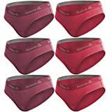 Reebok PK1613 Talla XS Set 6 Culottes Deportivos para Mujer Fuerte + Rosa-95% algodón 5% Elastano, Rosa/Rosa Oscuro