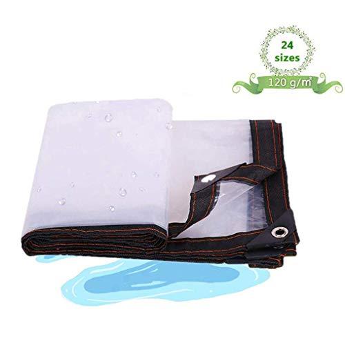 QI-CHE-YI Tarps mit Linoleum, transparentes Plastikgewächshaus Film, Camping, Outdoor, Terrasse, Regen oder Sonne,4x7m
