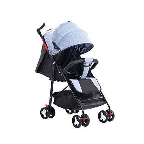 Carritos y sillas de Paseo El Cochecito de bebé se Puede sentar reclinando la luz Simple Plegable portátil Paraguas de bebé de Cuatro Ruedas para niños Carrito Bebé Sillas de Paseo
