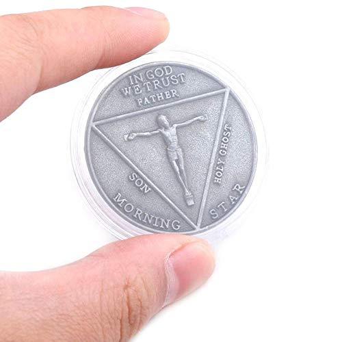 NKJWHB Satan Pentecost Moneda Conmemorativa Moneda Conmemorativa Insignia Halloween Metal Accesorios Accesorios Moneda
