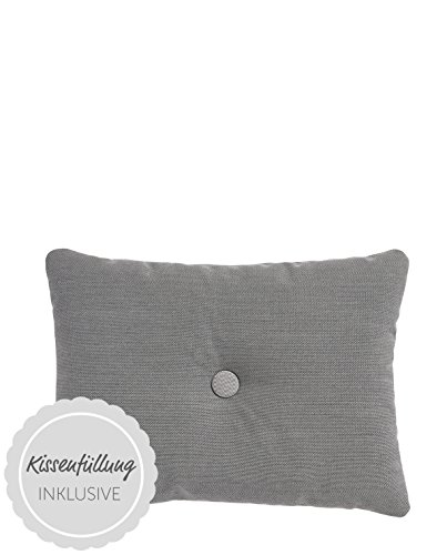 HAY - Kissen Dot 45 x 60 cm Steelcut Trio, Dark Grey 153