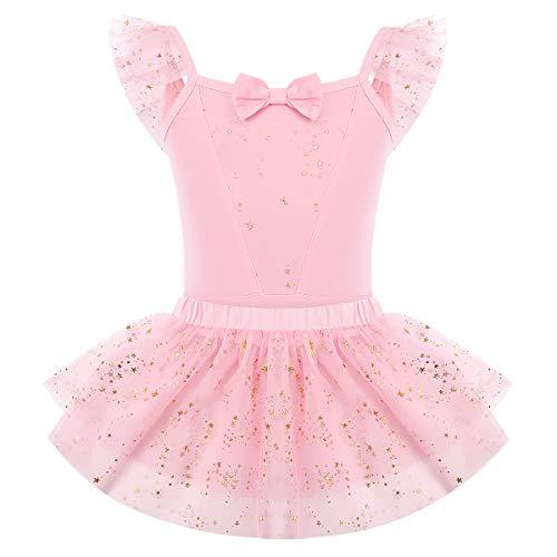 FYMNSI Vestido de ballet para nios y nias, disfraz de unicornio, tut de gimnasia, de tul, de princesa, con faldas, de manga de aleteo de una pieza, para bailar, cosplay de 2 a 7 aos