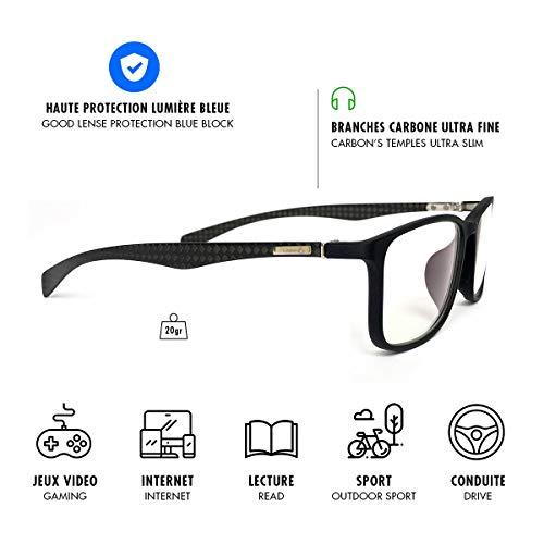 Lusee Carbone Premium Occhiali da lettura, Nero, M Unisex-Adulto