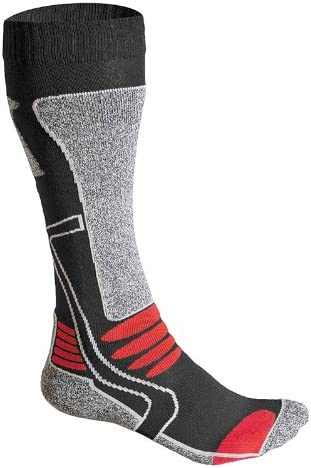 F-Lite Men's Motorcycling High Socks,Multicolor (Gray / Black / Red), 43 - 46