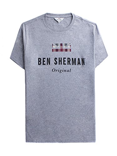 Ben Sherman Herren The Original Print Tshirt T-Shirt, Grau (Grey 250), XX-Large