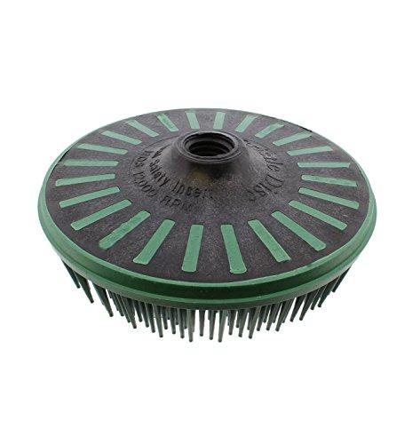 """3M Abrasive 048011-24241 Scotch-Brite Bristle Discs, 4 1/2"""", 50 RPM and 12,000 RPM, Green"""