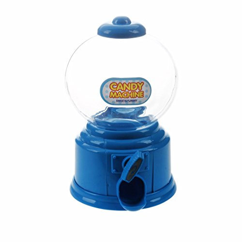 SODIAL(R) Maquina de Caramelos de plastico Hucha de Dinero Caja de Almacenamiento de Regalo Regalos para los ninos y el Amante, Azul