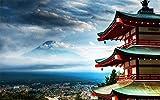 Xiutailtd Rompecabezas de rompecabezas con vistas al monte Fuji paisaje DIY rompecabezas de madera 1000 piezas rompecabezas para adultos niños juguetes juego (75 50 cm)