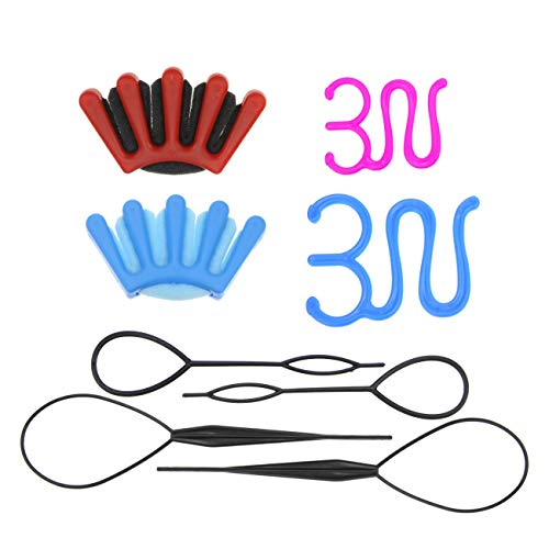 8Pcs Hair Braiding Tool Sponge Hair Braider Twist Styling Braid Tool Holder Clip DIY