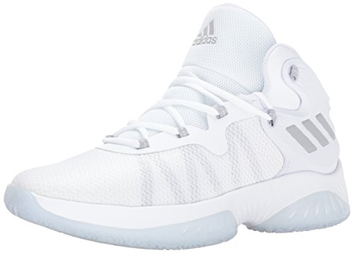adidas Men's Explosive Bounce Basketball Shoes, Grey Two/White, (20 M US)