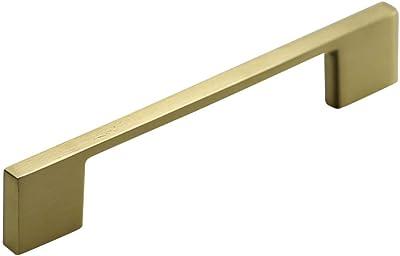 "Jeffrey Alexander Sutton 635-96SN Satin Nickel Square Cabinet Pull 3.75/"" 96mm"