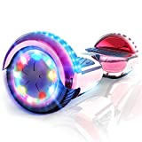 CITYSPORTS Overboard 6.5 Pouces Hover Board Bluetooth, Gyropode Self-Balance Board Moteur 700W avec Roues LED Flash,Skateboard Electrique Enfant Adult