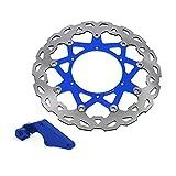 Rotor del Freno Rotor y Soporte de Disco de Freno Flotante Delantero de 320mm para Motocicleta YZ250F YZ 250F 2007-2015 YZ450F YZ 450F 08-15 Motorcross (Size : Set)