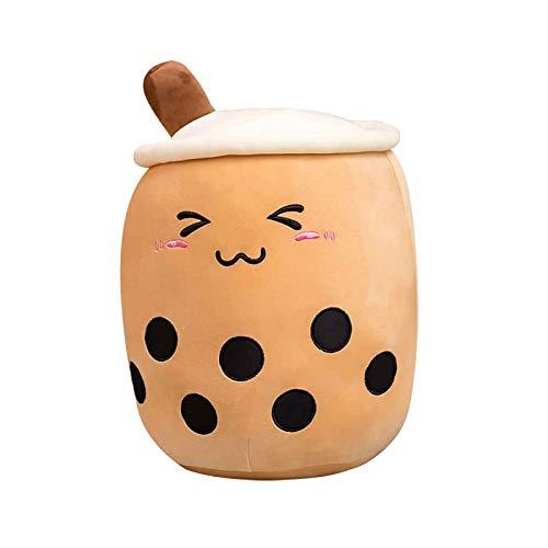 Plüschtiere Puppe Milchtee Tasse Kreatives Cartoon Cartoon weiche süße Milchtee Tasse Plüschpuppe Puppe für Kinder Baby Puppe Soft Touch Toys Spielzeug 3D 35cm A