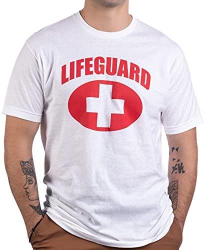 Lifeguard   White Lifeguarding Unisex Uniform Costume T-Shirt for Men Women - M