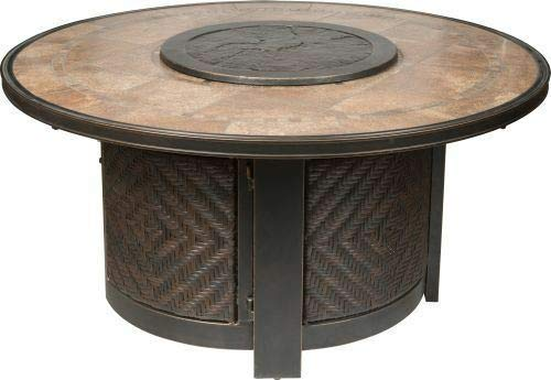 1 Pc of Gas Fire Pit with Propane Tank Lazy Susan Burner Cover 48' (Dia.)