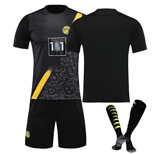 ZQYDUU Abbigliamento Sportivo da Calcio Ragazzi Uomo, Maglia #9 Haaland #11 Reus, Maglia da Tifoso, Maglietta da Calcio a Maniche Corte Uniforme da Squadra No num-18