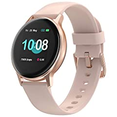 【Lightweight&Personalized Watch Faces】 The 1.3 inches square color touch display covered with a 2.5D curved glass and aluminum alloy frame, Uwatch 2S smartwatch makes it elegant and light to wear, but also sturdy and scratch-resistant. After connecti...