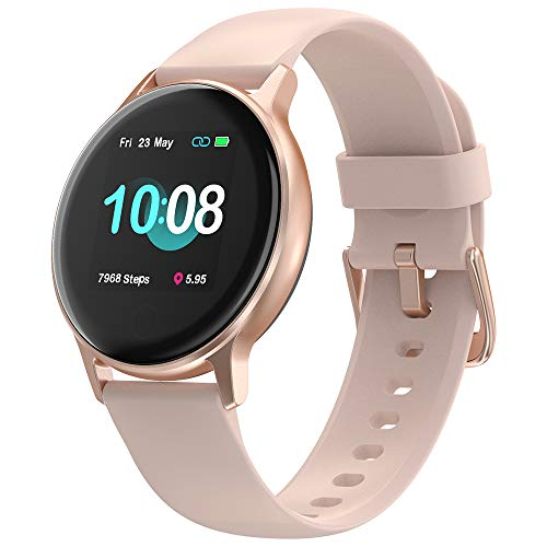 Smartwatch Donna, UMIDIGI Uwatch 2S Orologio Fitness Tracker Bluetooth Smart Watch, Impermeabile 5ATM, Cardiofrequenzimetro da Polso Contapassi Sportivo Activity Tracker per Android iOS-Oro Rosa