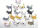 Gatto Calamite da frigo 3D, Simpatico Set di magneti, Magnete da Frigorifero per Lavagna Bianca, Mappa, Decorazioni per la casa, Gattino 9 Grasso Casuale