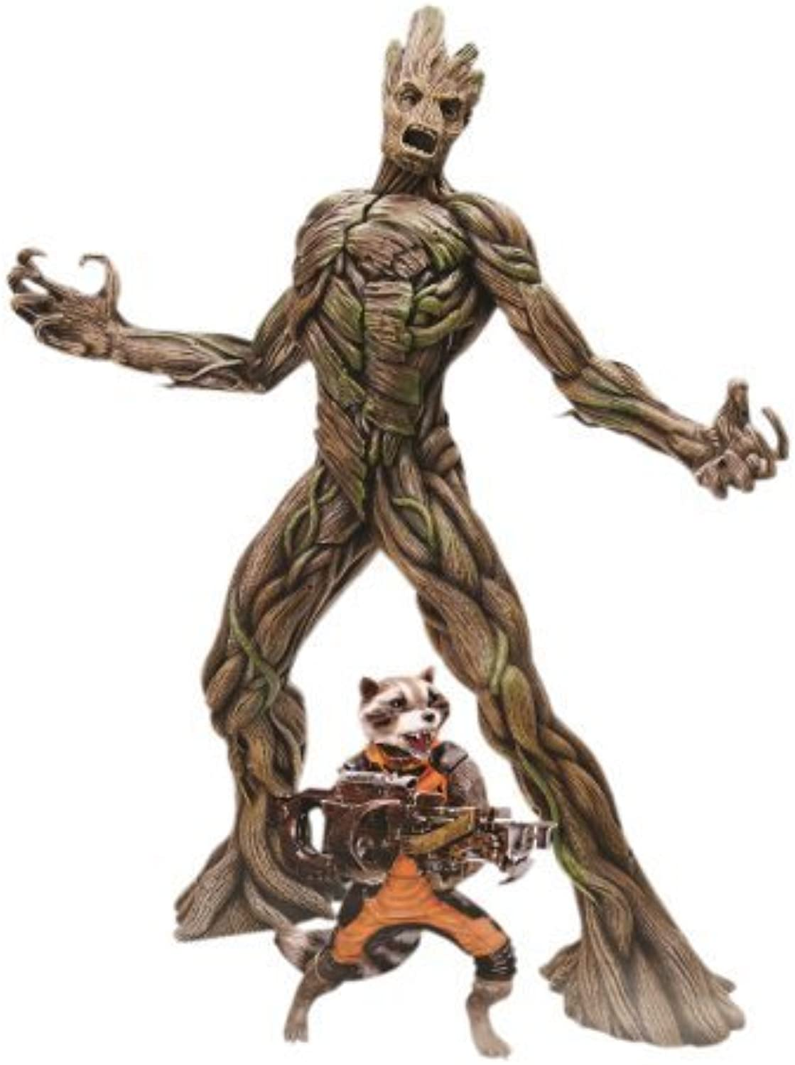 Dragon Models Guardians of The Galaxy - Groot with Rocket Raccoon Action Hero Vignette (1 9 Scale) by Dragon Models USA