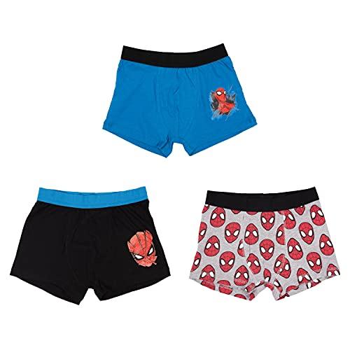 United Labels Spiderman - Boxershorts Jungen 3er Pack, Kinder Unterhose Unterwäsche (Numeric_134)
