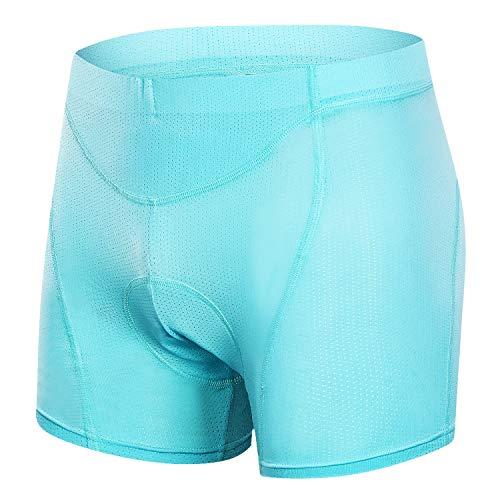MUCUBAL Women's Bike Underwear 3D Padded Bicycle Shorts MTB Cycling Briefs(Blue,XXL)