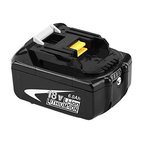 6.0Ah BL1860B Replacement for Makita 18V Battery Lithium-ion Compatible with Makita 18 Volt LXT Battery BL1860 BL1850 BL1850B BL1845B BL1840 BL1840B BL1830 BL1830B BL1820 BL1815 BL1815B 194204-5