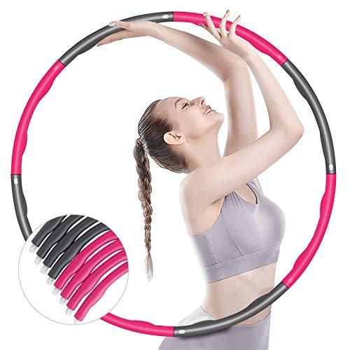 BENEFAST Hula Hoop 6-8 verstellbare Abschnitte für Reifen Erwachsene und Kinder, Wellen Design zur Fitness, Gewichtsverlust, Bauchformung und Spaß für Zuhause, Büro