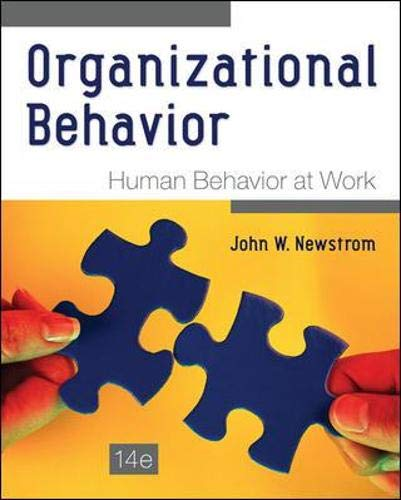 Compare Textbook Prices for Organizational Behavior: Human Behavior at Work 14 Edition ISBN 8601421881654 by Newstrom, John