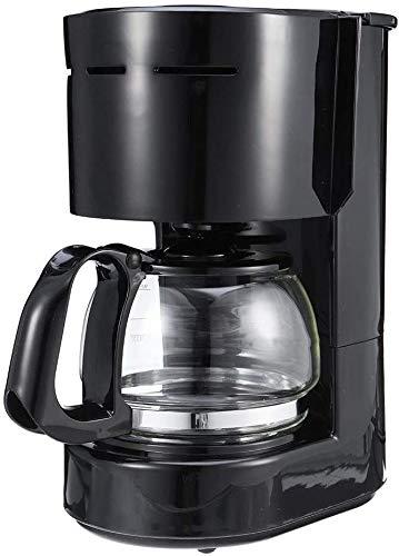 Espresso machine Duurzaam 600W 0,65L Indoor Kitchen Volautomatische huishoudelijke elektrische Drip Koffiezetapparaat Maker karaf Brewer (Kleur: Zwart, Maat: Een maat)