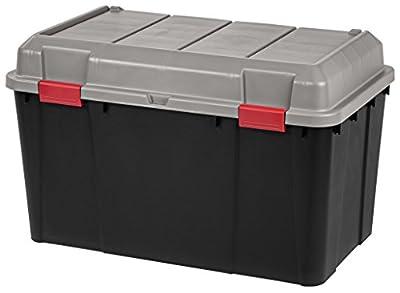 IRIS 138 Quart Store-It-All Storage Trunk, 3 Pack, Black