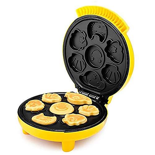 HKDJ-Automático Mini Máquina para Hacer Cupcakes para El Desayuno De Los Niños,7 Pastel A La Vez,Superficie Antiadherente Limpieza Fácil
