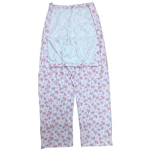 [pkpohs] 介護パジャマ ズボンだけ マジックテープ レディース 介護 ねまき 日本製 (ピンク系, L)