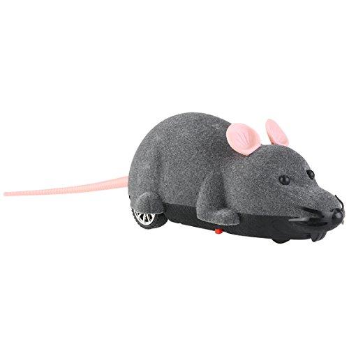 1 x elektronische Plüschmaus, Spielzeug für Katzen, mit Fernbedienung.