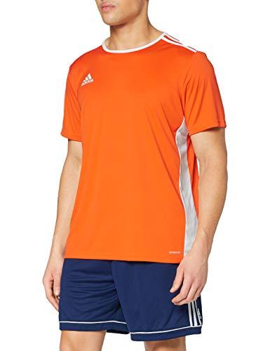 adidas Entrada 58 Camiseta de Fútbol para Hombre de Cuello Redondo en Contraste, Naranja (Orange/White), M