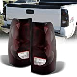 ACANII - For 2003-2006 Chevy Silverado 1500 2500 3500 Red Smoked Lens Tail Lights Brake Lamps Replacement Left+Right Set