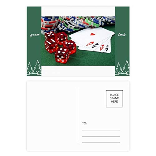 Poker Würfel Glücksspiel Foto Glücksbringer Postkartenset Karte Mailing Seite 20 Stück