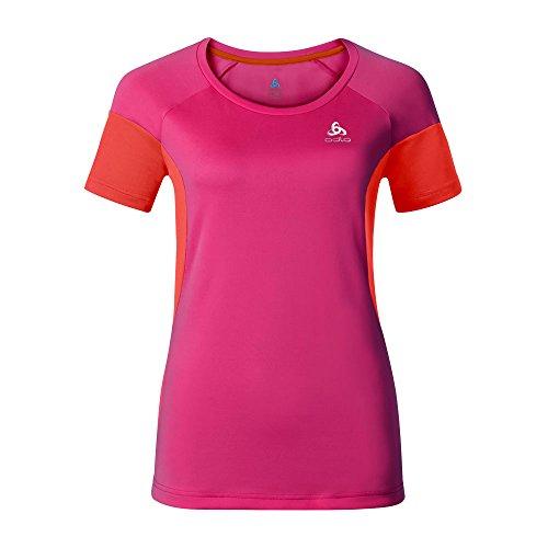 Odlo VERSILIA T-Shirt à Manches Courtes pour Femme XS Beetroot Purple/Cherry Tomato