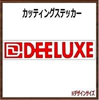 【ロゴ・文字】DEELUXE ディーラックス カッティングステッカー (レッド, 横25x縦4.5cm 2枚組)