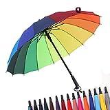 Sombrilla Paraguas De 16 Colores Pontishell Paraguas A Prueba De Viento del Paraguas Recto De La Manija Larga, Paraguas, Paraguas De La Publicidad del Logotipo del Paraguas del Negocio